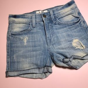 Wildfox denim roll up shorts